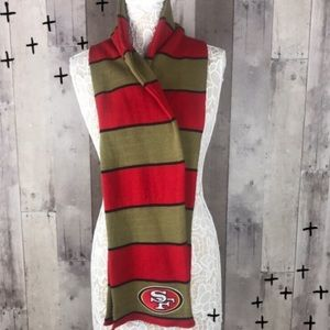 EUC SF 49ers red black & gold striped scarf unisex